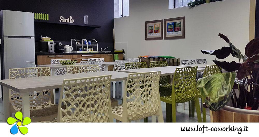 Coworking Milano - area Cucina del Loft